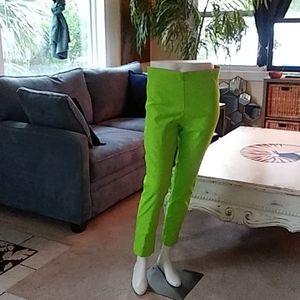 Gretchen Scott lime green cigarette pant sz L